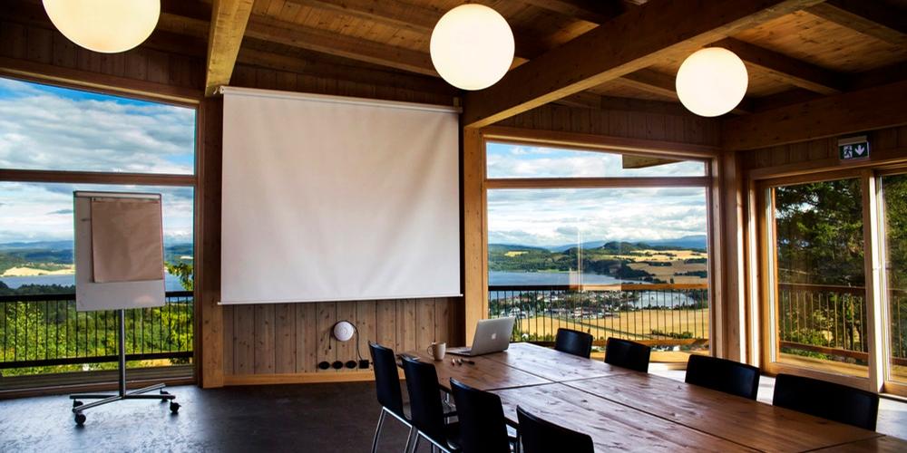 Møterom med panoramautsikt over Borgenfjorden og Trondheimsfjorden